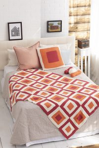 Brown Sheep Blog: Gifts to Knit and Crochet for the Holidays, Tricolor Log Cabin Afghan and Pillow