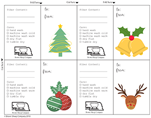 Free Printable Holiday Gift Tags from Brown Sheep Company