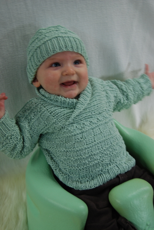 Busy Baby Boy Sweater & Hat   Brown Sheep Company, Inc.