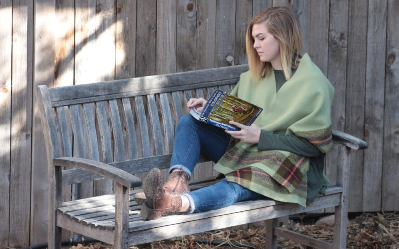 Woven Blanket Cape: a project collaboration with Schacht Spindle Co.