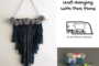 Easy DIY Fringe Wall Hanging with Pom Poms