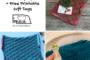 Finishing Handmade Holiday Gifts + Free Printable Gift Tags