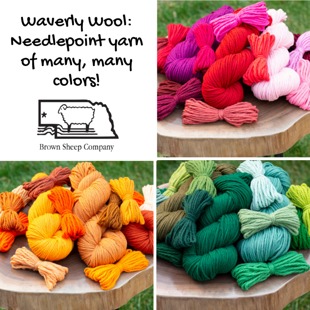 Waverly Wool: Needlepoint yarn of many, many colors!